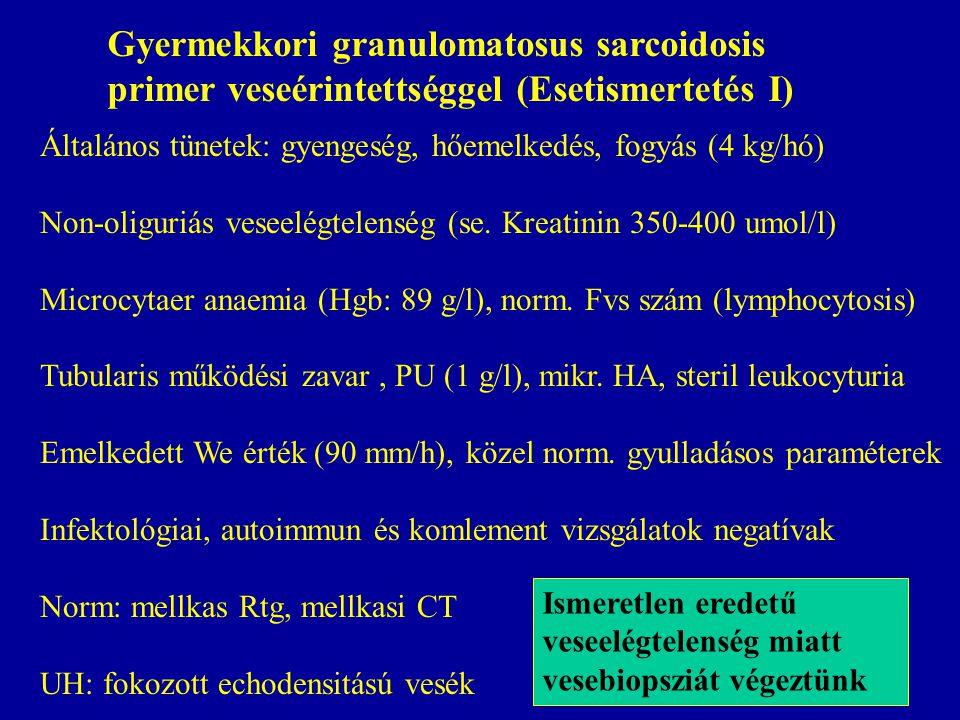 Gyermekkori granulomatosus sarcoidosis