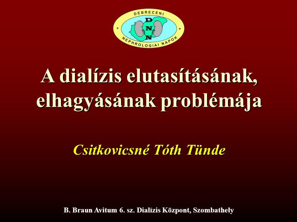 A dialízis elutasításának, elhagyásának problémája