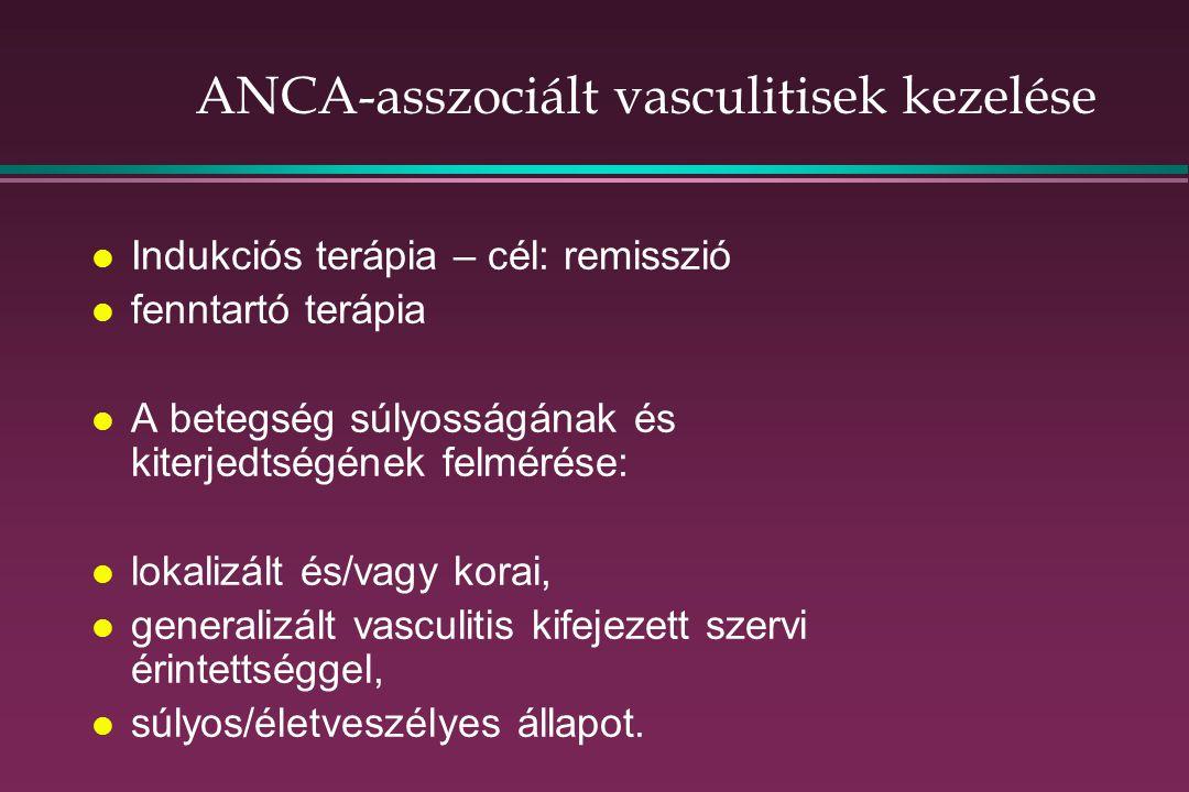 ANCA-asszociált vasculitisek kezelése
