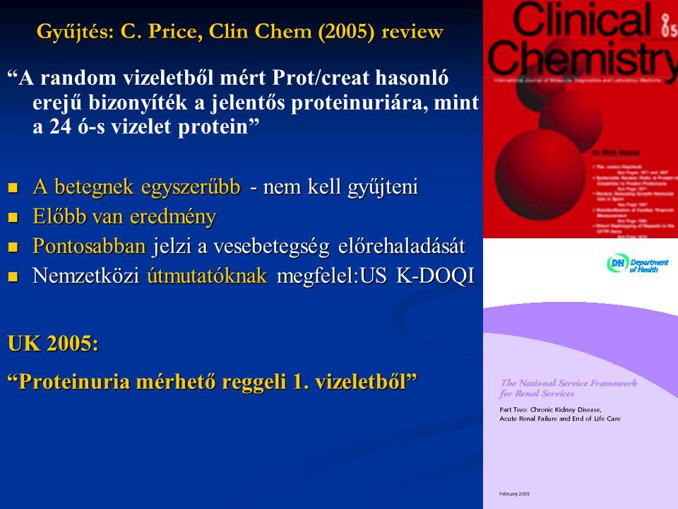 Gyűjtés: C. Price, Clin Chem (2005) review