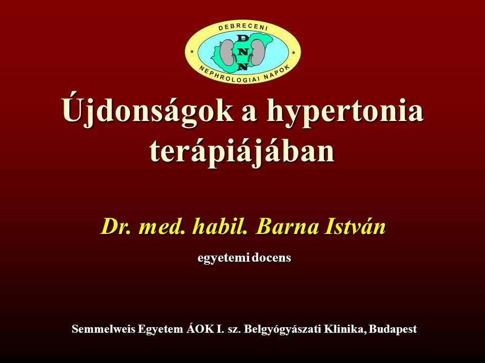 Újdonságok a hypertonia terápiájában