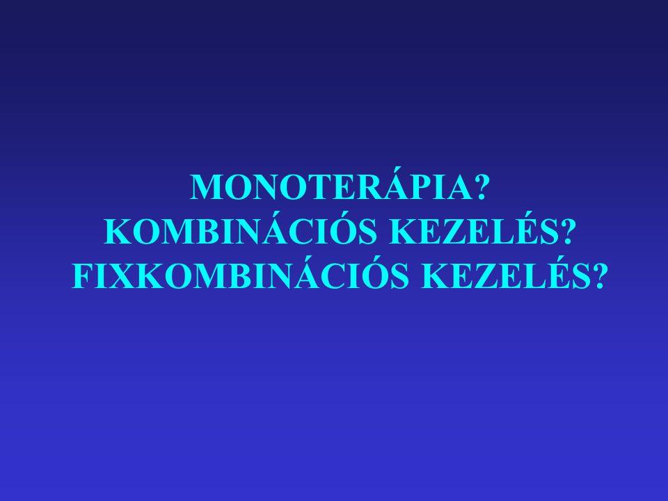 MONOTERÁPIA KOMBINÁCIÓS KEZELÉS FIXKOMBINÁCIÓS KEZELÉS