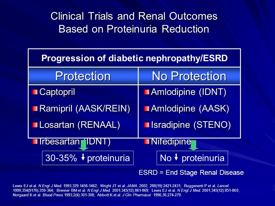 Clinical Trials and Renal Outcomes Based on Proteinuria Reduction
