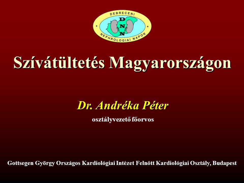 Szívátültetés Magyarországon osztályvezető főorvos