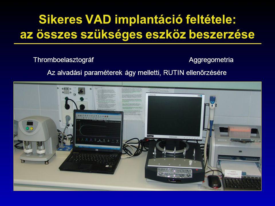 Sikeres VAD implantáció feltétele: az összes szükséges eszköz beszerzése
