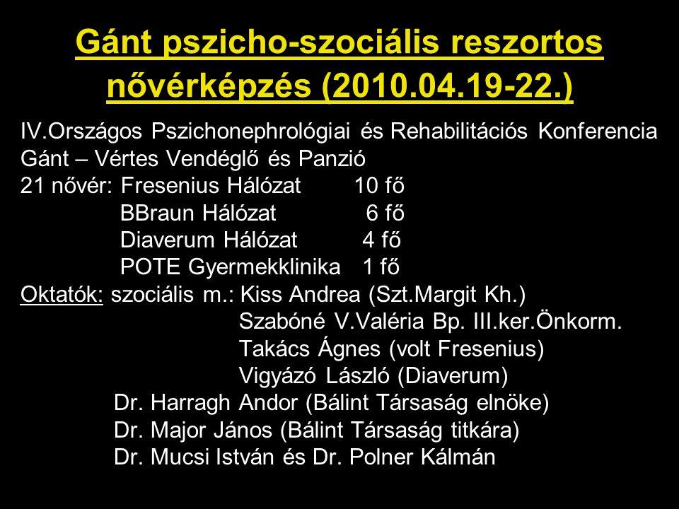 Gánt pszicho-szociális reszortos nővérképzés (2010.04.19-22.)