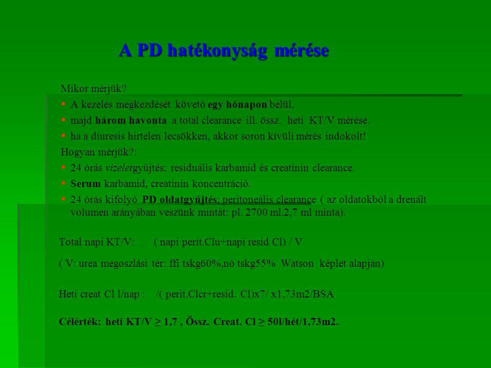 A PD hatékonyság mérése