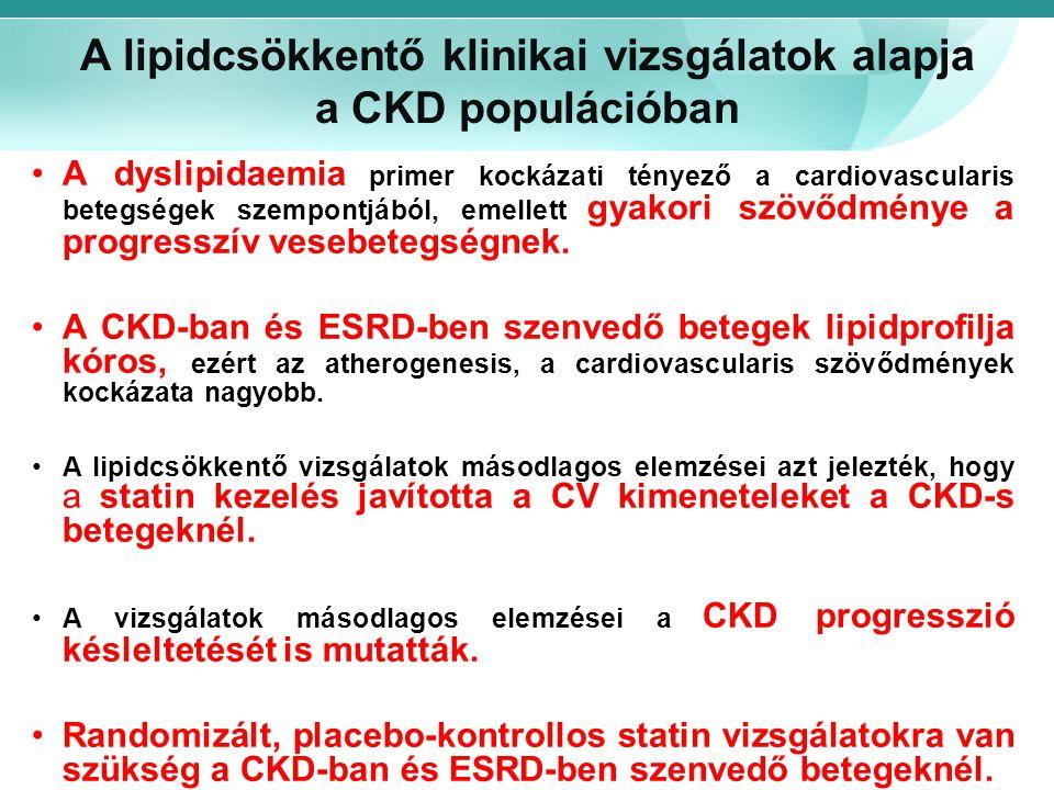 A lipidcsökkentő klinikai vizsgálatok alapja a CKD populációban