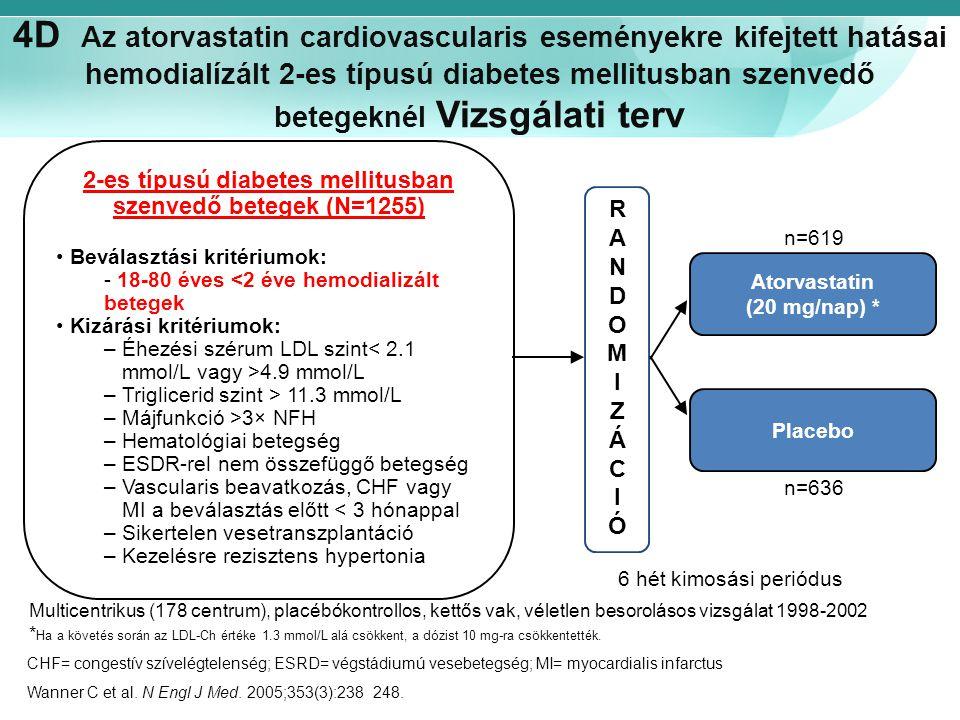 4D Az atorvastatin cardiovascularis eseményekre kifejtett hatásai hemodialízált 2-es típusú diabetes mellitusban szenvedő betegeknél Vizsgálati terv