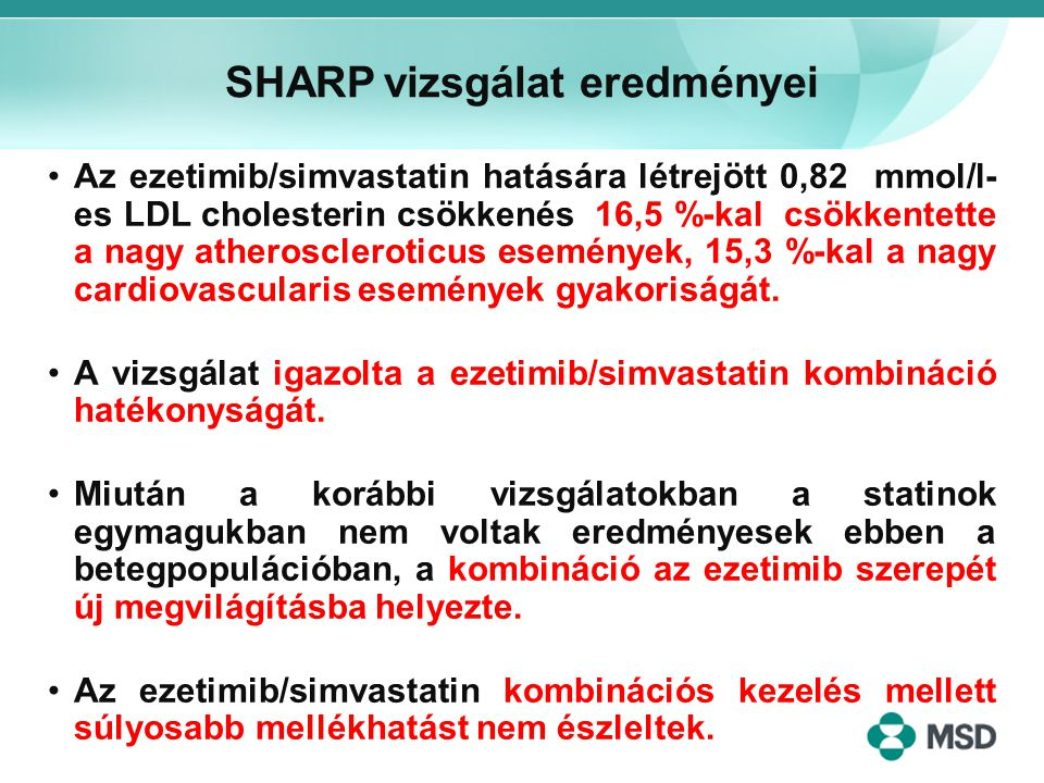 SHARP vizsgálat eredményei