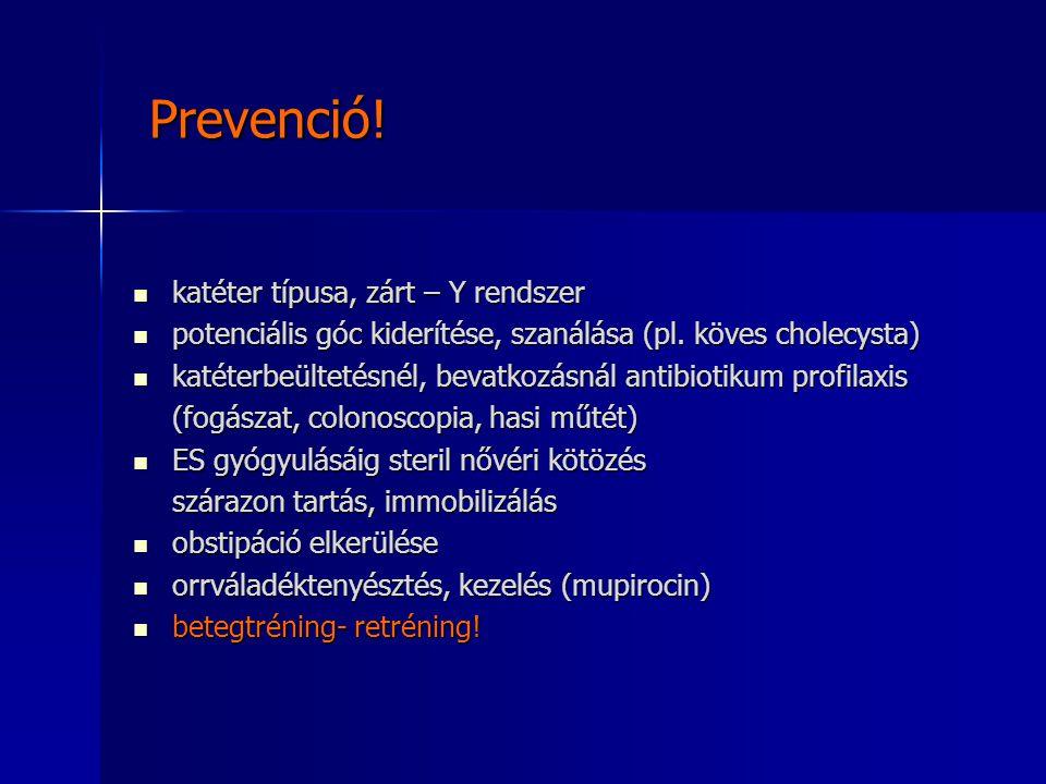 Prevenció! katéter típusa, zárt – Y rendszer