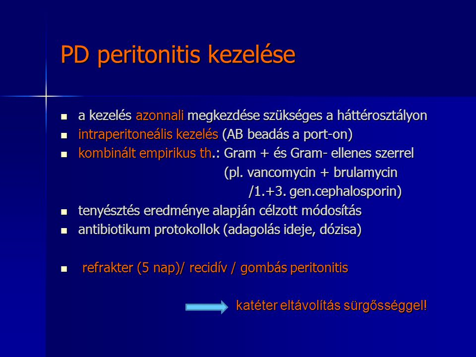 PD peritonitis kezelése