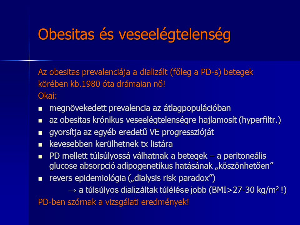 Obesitas és veseelégtelenség