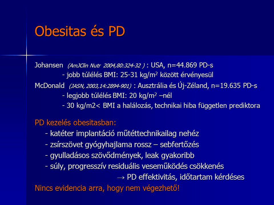 Obesitas és PD PD kezelés obesitasban: