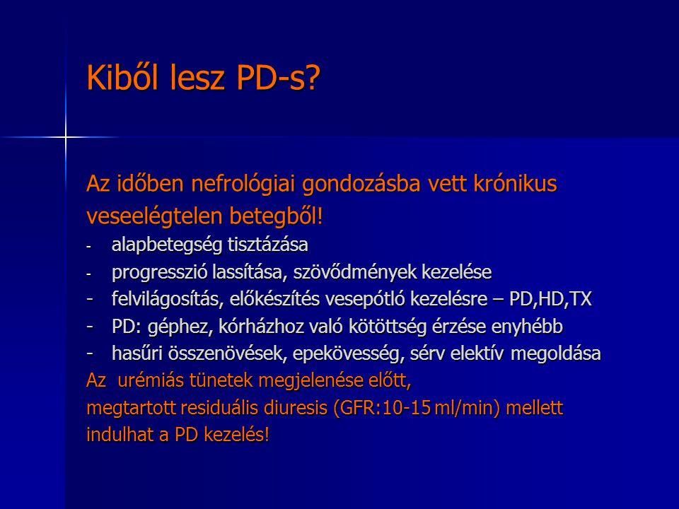 Kiből lesz PD-s Az időben nefrológiai gondozásba vett krónikus