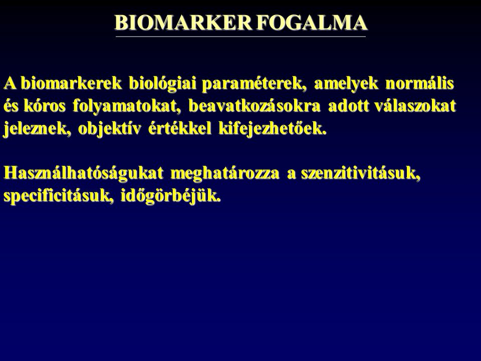 BIOMARKER FOGALMA