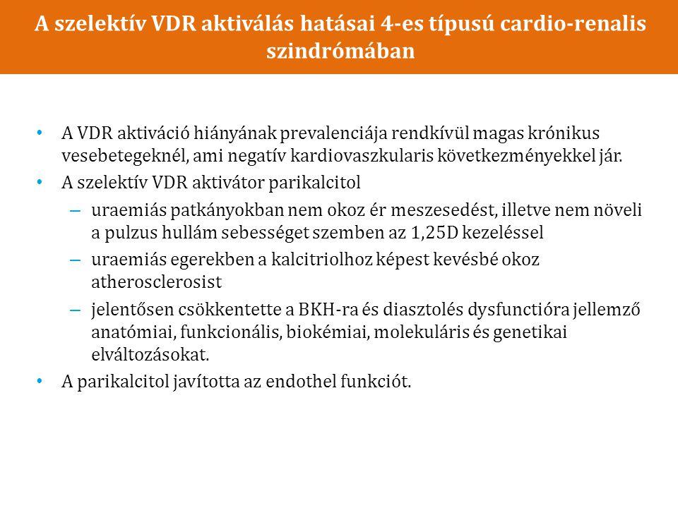 A szelektív VDR aktiválás hatásai 4-es típusú cardio-renalis szindrómában