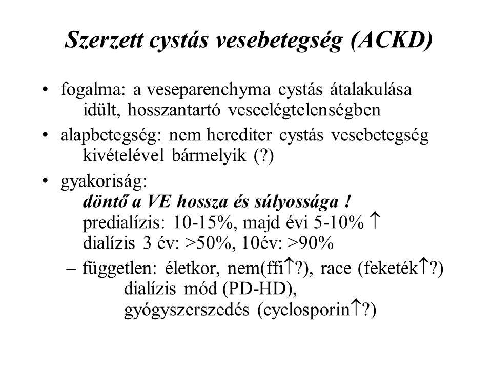Szerzett cystás vesebetegség (ACKD)
