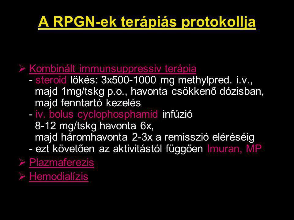 A RPGN-ek terápiás protokollja