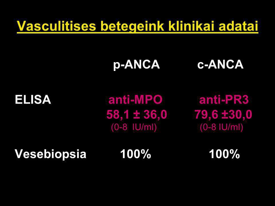 Vasculitises betegeink klinikai adatai