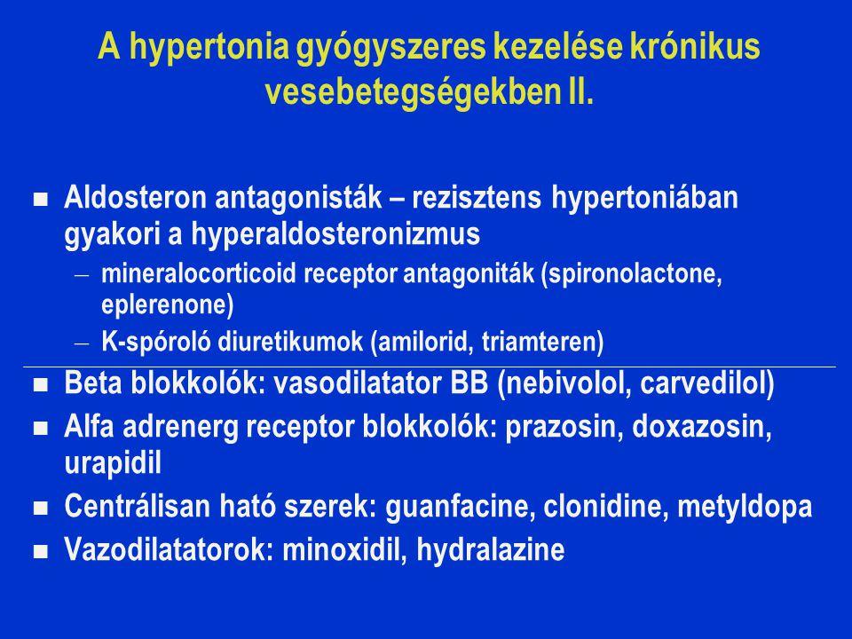 A hypertonia gyógyszeres kezelése krónikus vesebetegségekben II.