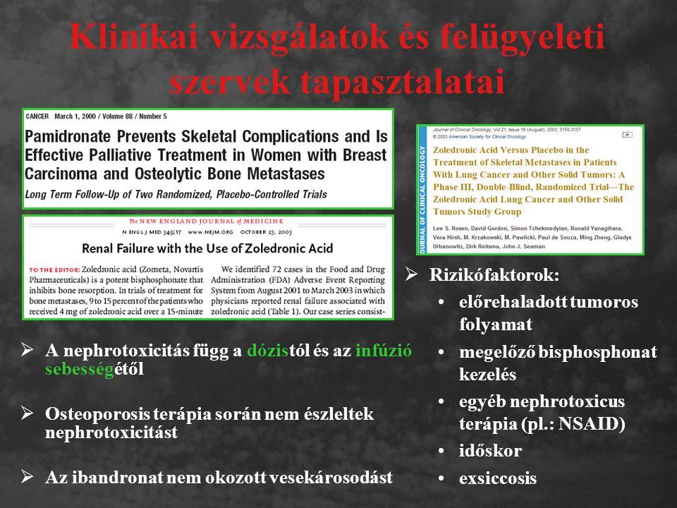 Klinikai vizsgálatok és felügyeleti szervek tapasztalatai