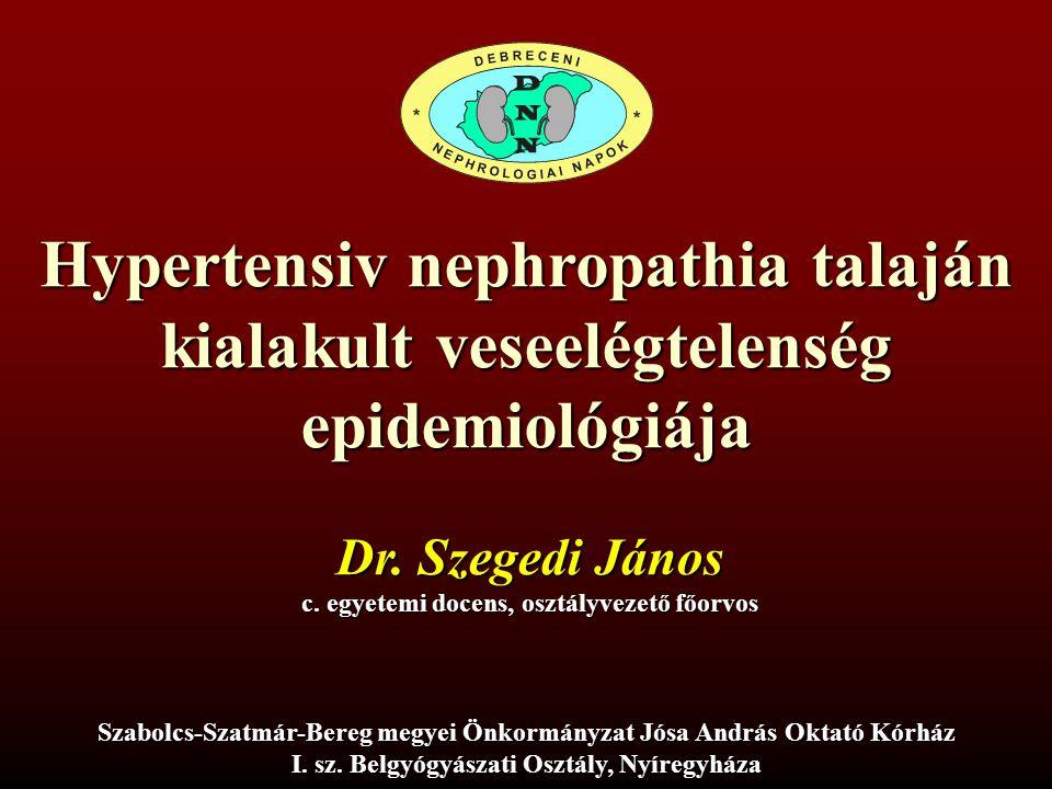 Hypertensiv nephropathia talaján kialakult veseelégtelenség