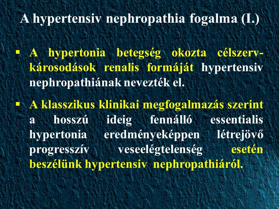 A hypertensiv nephropathia fogalma (I.)