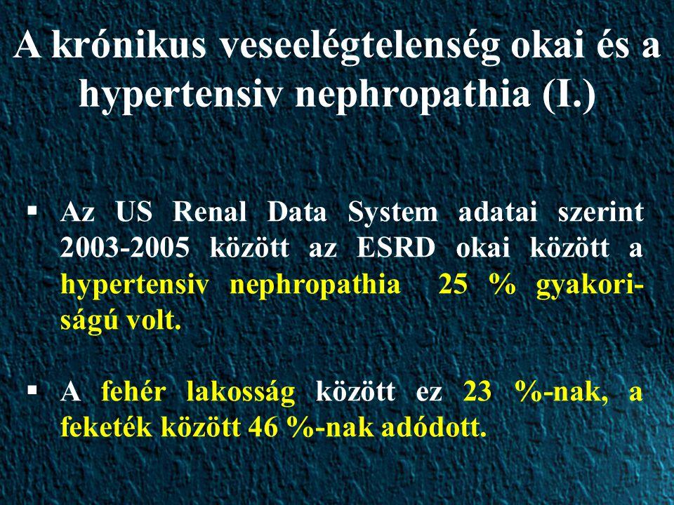 A krónikus veseelégtelenség okai és a hypertensiv nephropathia (I.)