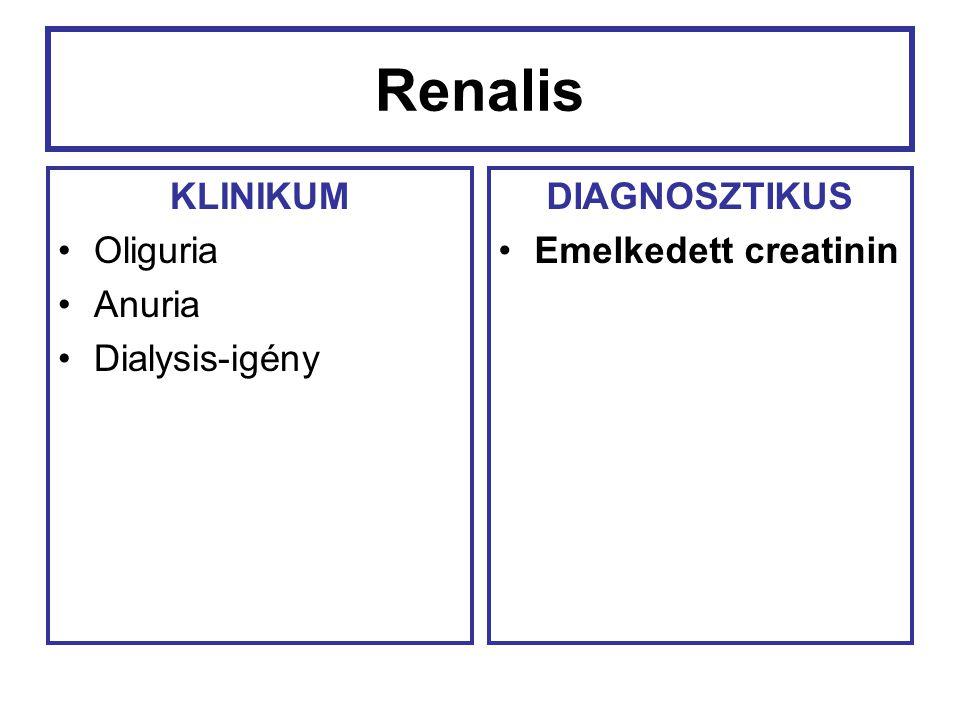 Renalis KLINIKUM Oliguria Anuria Dialysis-igény DIAGNOSZTIKUS