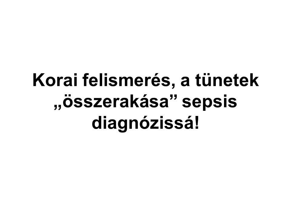 """Korai felismerés, a tünetek """"összerakása sepsis diagnózissá!"""