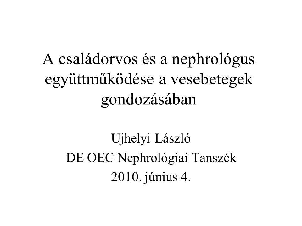 Ujhelyi László DE OEC Nephrológiai Tanszék 2010. június 4.