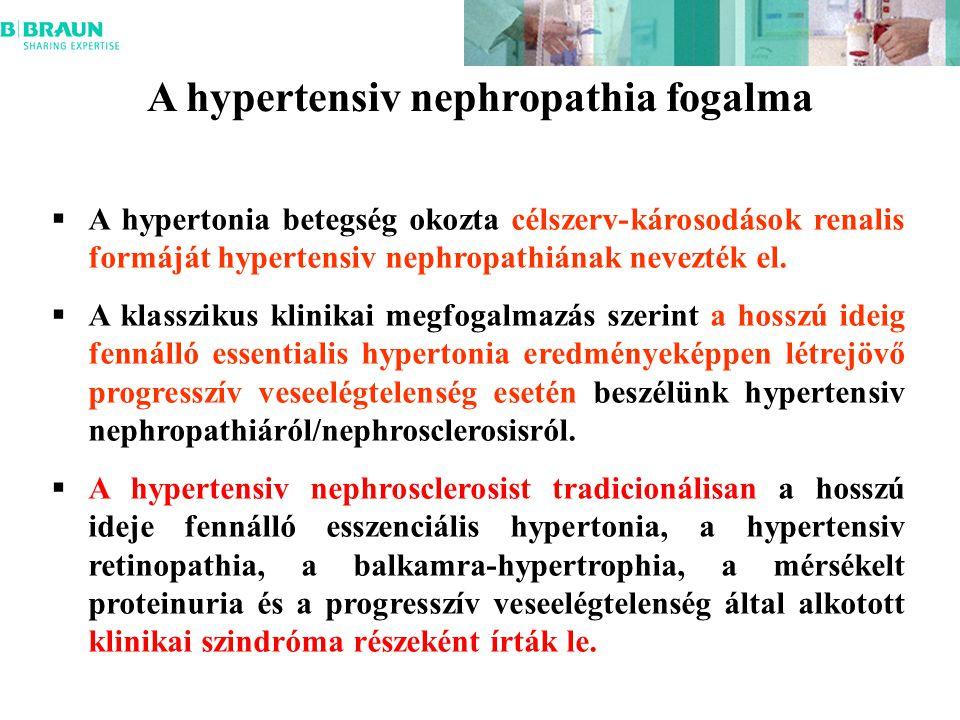 A hypertensiv nephropathia fogalma