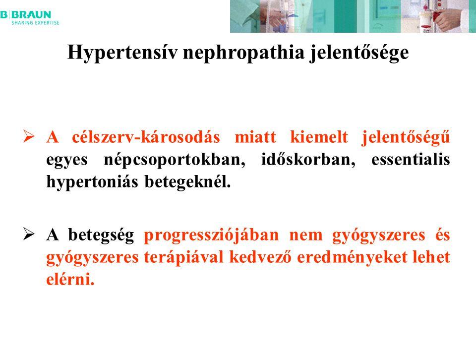 Hypertensív nephropathia jelentősége