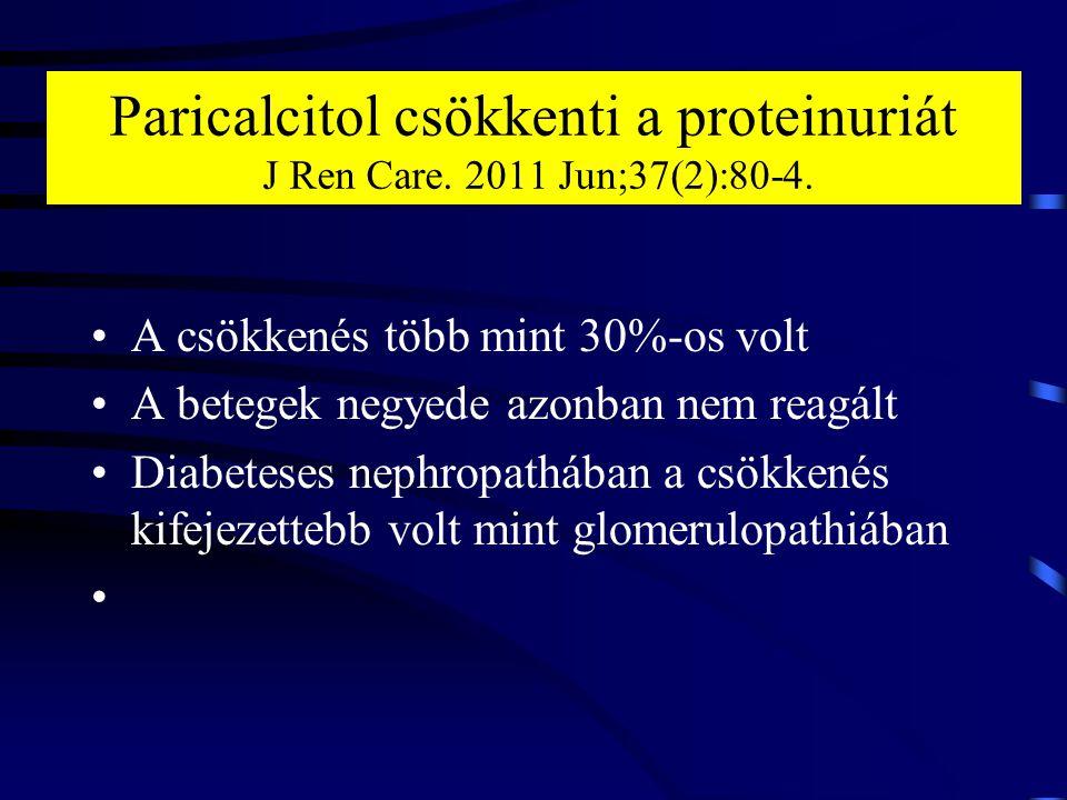 Paricalcitol csökkenti a proteinuriát J Ren Care. 2011 Jun;37(2):80-4.
