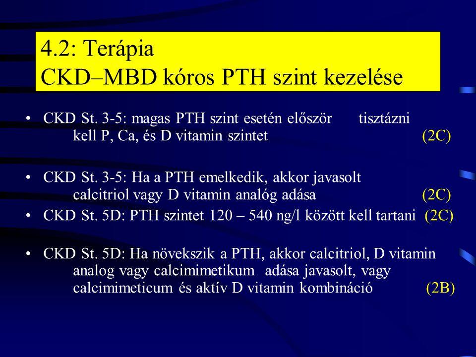 4.2: Terápia CKD–MBD kóros PTH szint kezelése