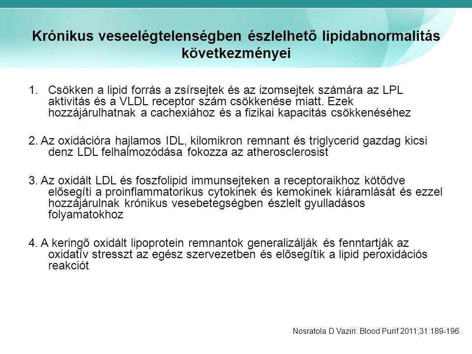 Krónikus veseelégtelenségben észlelhető lipidabnormalitás következményei