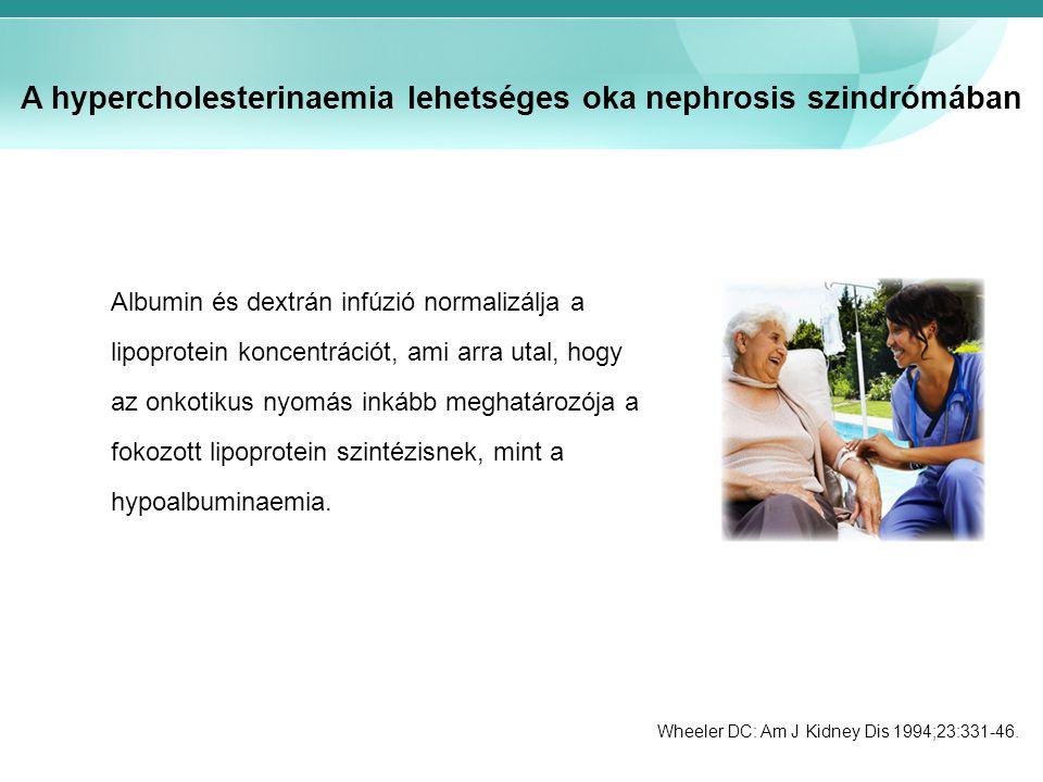 A hypercholesterinaemia lehetséges oka nephrosis szindrómában