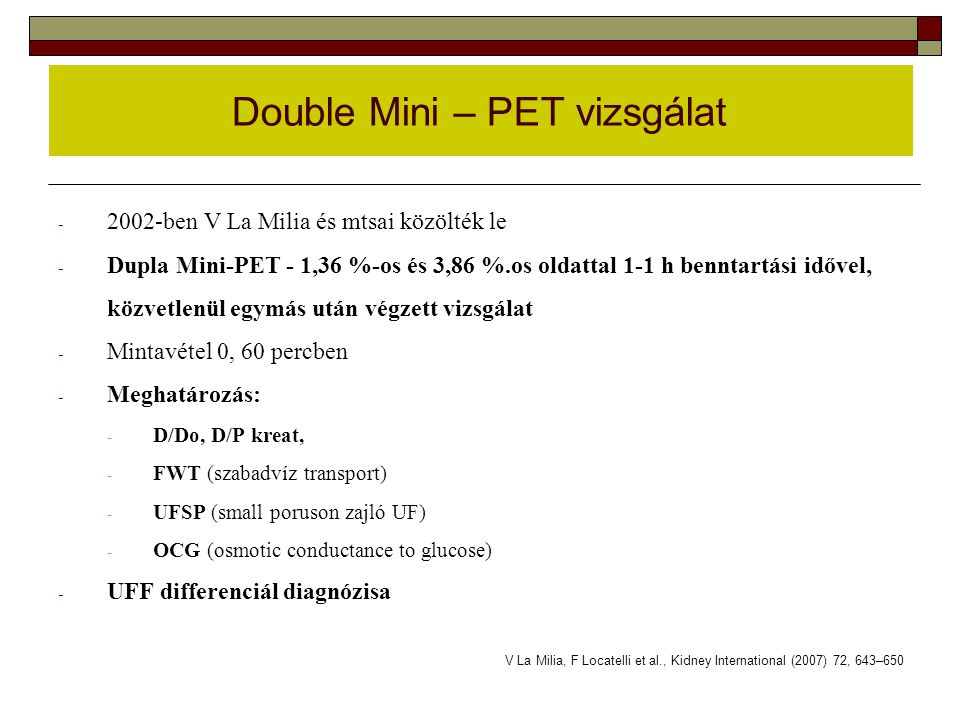 Double Mini – PET vizsgálat