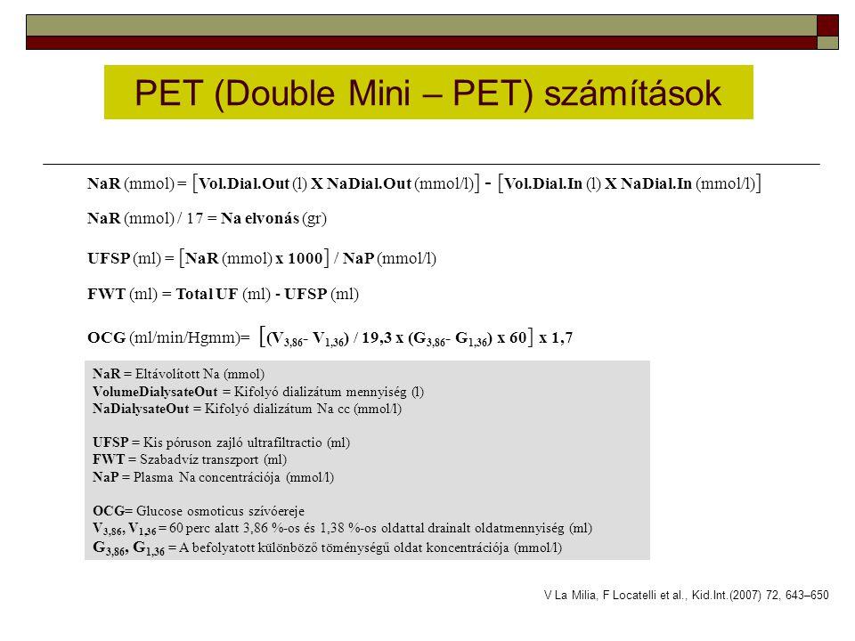 PET (Double Mini – PET) számítások