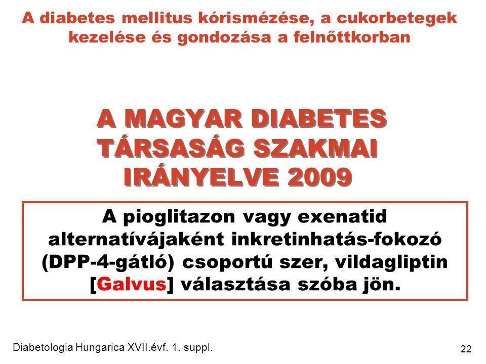 A MAGYAR DIABETES TÁRSASÁG SZAKMAI IRÁNYELVE 2009