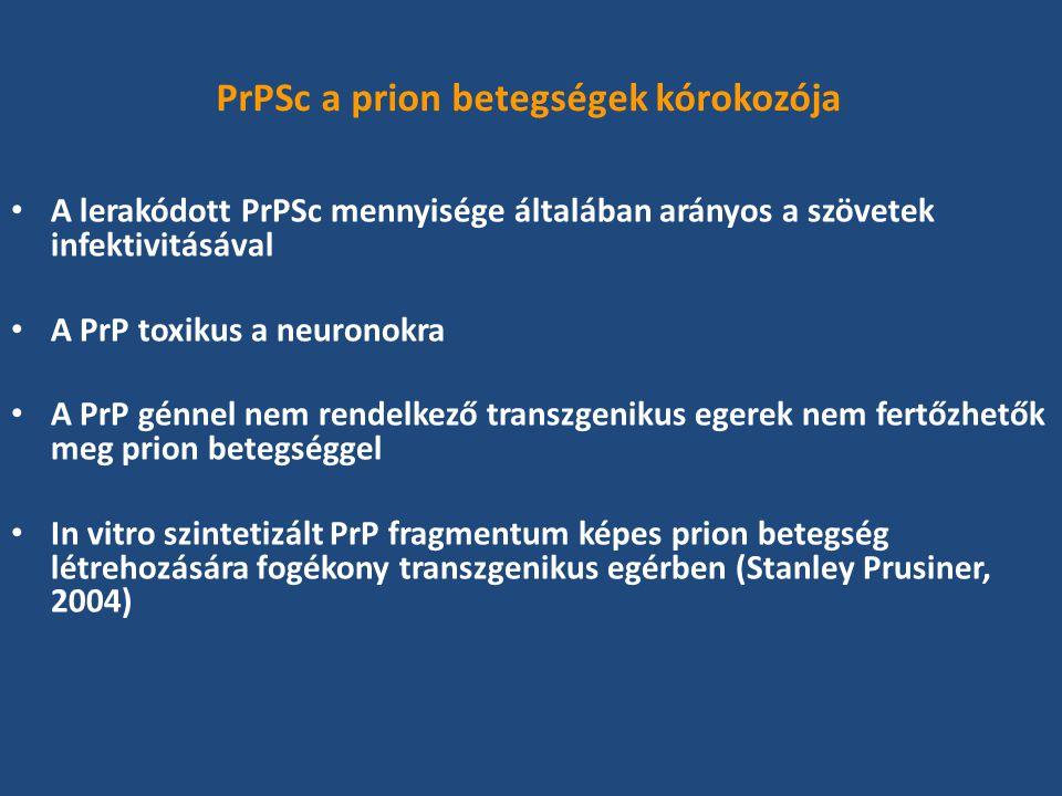PrPSc a prion betegségek kórokozója