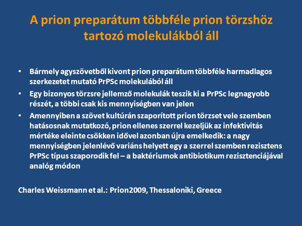 A prion preparátum többféle prion törzshöz tartozó molekulákból áll