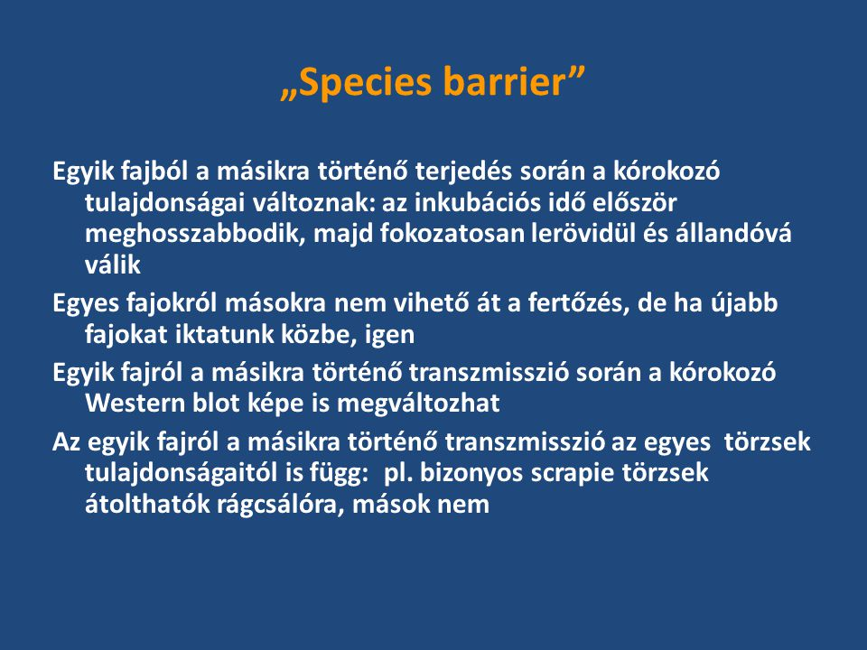 """Species barrier"
