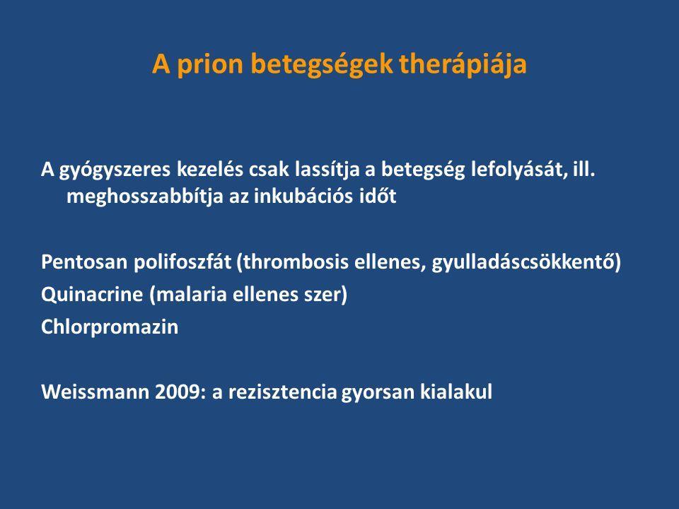 A prion betegségek therápiája