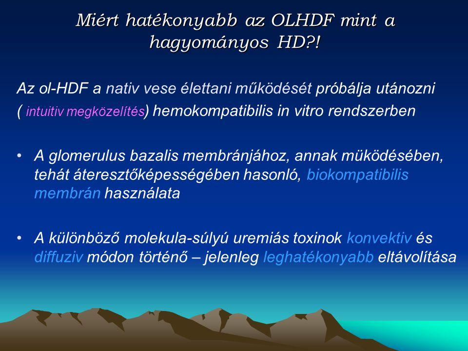 Miért hatékonyabb az OLHDF mint a hagyományos HD !