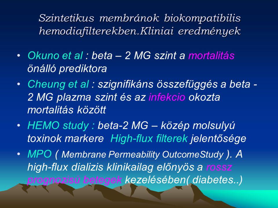 Szintetikus membránok biokompatibilis hemodiafilterekben