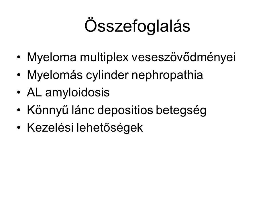 Összefoglalás Myeloma multiplex veseszövődményei