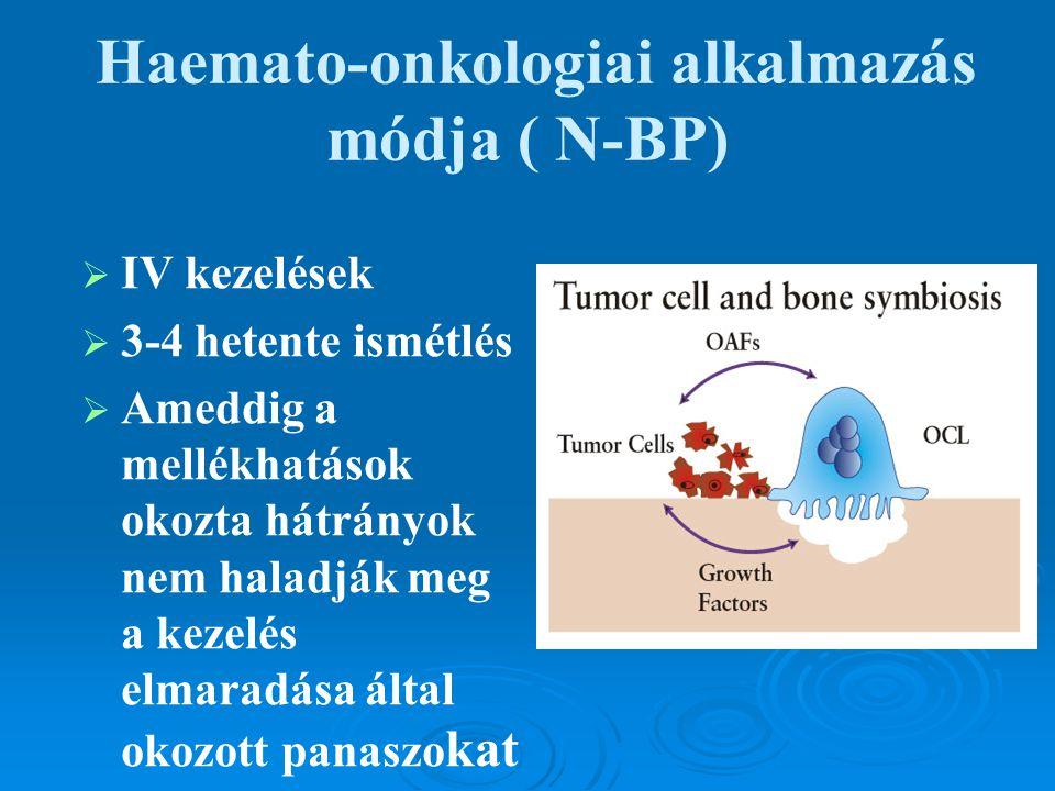 Haemato-onkologiai alkalmazás módja ( N-BP)