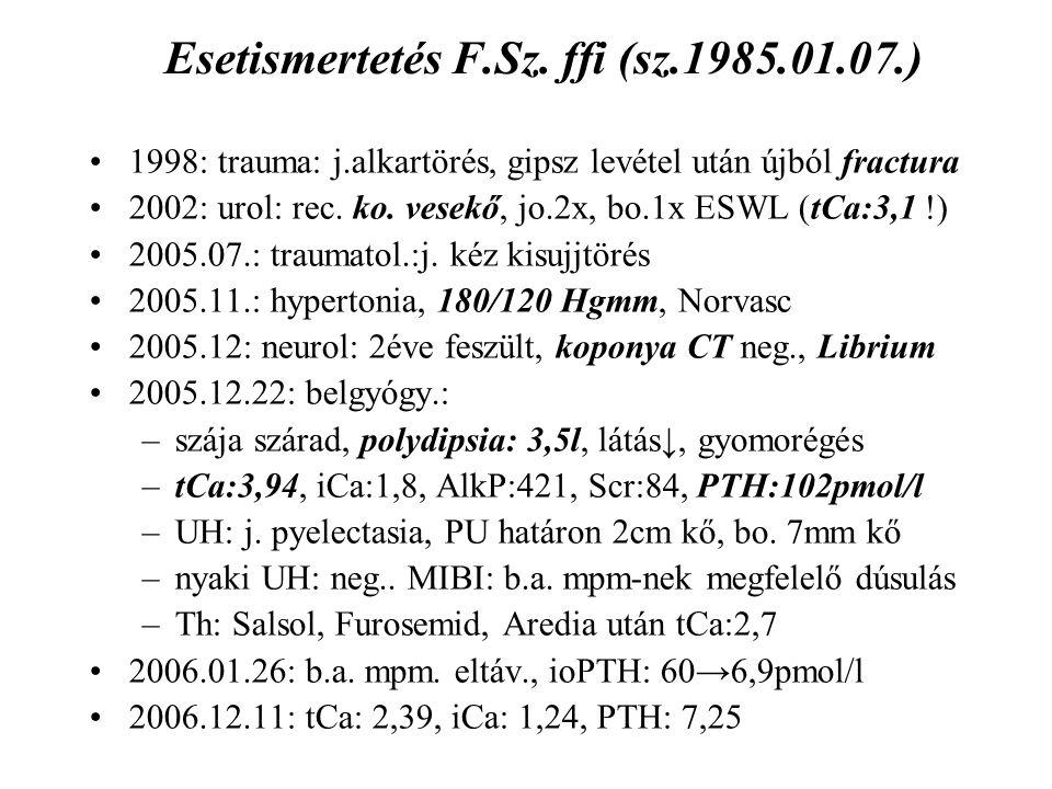 Esetismertetés F.Sz. ffi (sz.1985.01.07.)